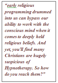 religious belief and hypnotherapy
